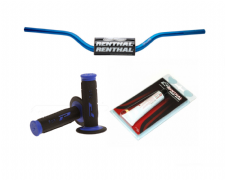 Renthal Fat bar Handlebars High Blue Pro Grips Renthal Grip Glue Combo 609 Bars